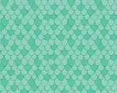 "Camelot's ""Under the Sea"", Scales in Aqua, 1 yard"