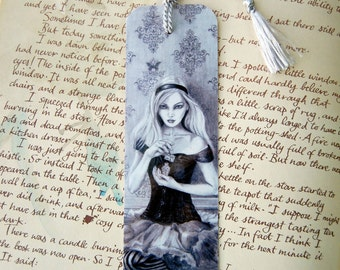 Alice In Wonderland Bookmark Drink Me Book Fantasy Art Gothic Art