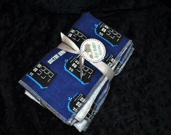 Set of 2 Burp Cloths- Dr Who