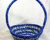 Pedal Car Blue Striped Easter Rag Basket