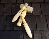 Thor's Hammer with matching Jewelled daggers  Wooden Toy set