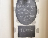 Verse of the Week Chalkboard - Board with Polka Dots (additional colors available)