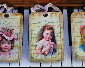 Gift Tags Glittered