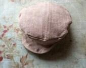 Baker Boy Cap for Blythe - Stone Linen
