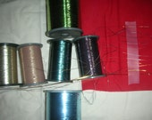 Vintage Japanese Thread - Metallic - Flat - Embroidery - Weaving - Embellish