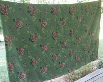 Vintage Floral Cotton Comforter/ Quilt - Country Chic