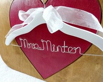 Bridal Coat Hangers - First White Coat - Clothes Hanger - Grad Gift - Doctor Hanger - Wedding Gifts - Hangers - Handmade Gifts - Weddings