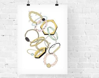 Arm Candy Fashion Illustration Art Print