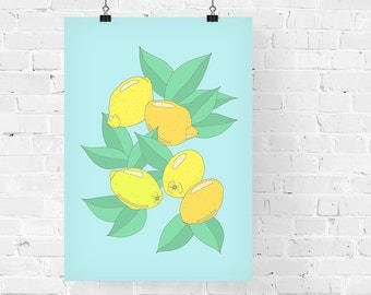 Lemons Decorative Illustration Art Print
