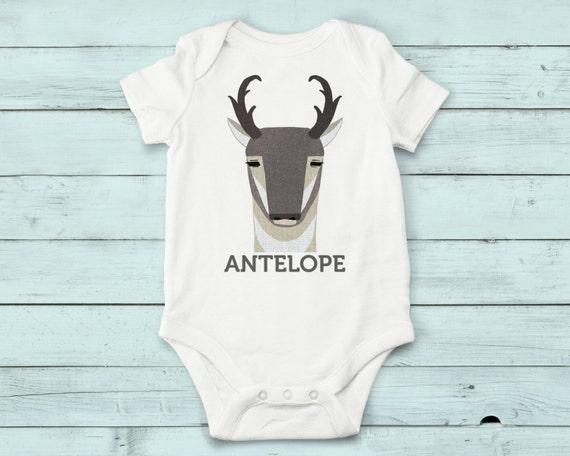 Antelope - onesie, baby girl, baby boy, baby gift, baby girl clothes, baby boy clothes, baby onesie, cute onesies, infant bodysuit, baby