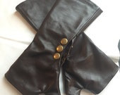 Chocolate Brown Leather Gloves