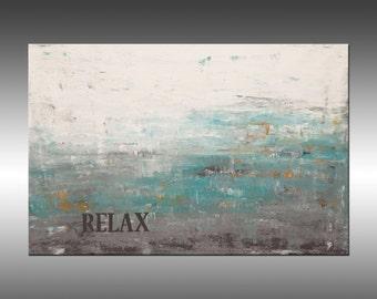 Inspiration 1, Relax - Art Original Abstract Painting Large Wall Art Textured Painting, Fine Art, Modern, Canvas Wall Art