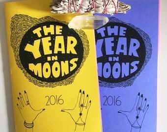 Year in Moons 2016 Calendar