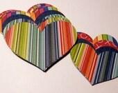 Valentine Hearts Kit Greens, Reds, Blues Stripes