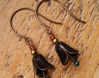 Olivia...Lampwork vintage style earrings by Pixie Willow Designs