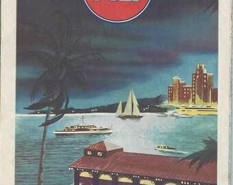 Gulf Florida Tourgide Vacation Map 1940-1950