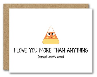 Funny Halloween Card, Candy Corn Card, Boyfriend Card, Husband Card, Friend Card, Happy Halloween Card, INSTANT DOWNLOAD