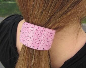 Pink Barrette, Polymer Barrette, Millefiori Barrette, Pink Ponytail Clip,  Pink Dot Barrette, Pink Fimo Barrette, Pink French Barrette