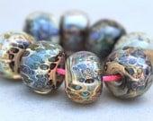 Borosilicate Glass Beads - Boro Beads - Blues, Tans and Greens