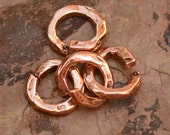 Seven Jump Ring Links in Copper Bronze, Open Jump Rings, 268d