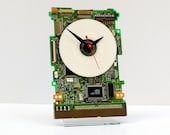 Clock made from a Computer Hard Drive Circuitboard