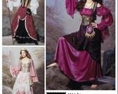 Simplicity 9966 - Women's Gypsy Pirate Wench Milkmaid Corset Dress Costume Pattern 6-8-10-12