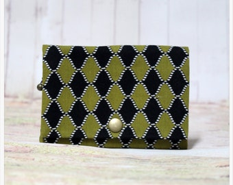 Black And Green - Coin Purse/Credit Card/ Zipper Pouch