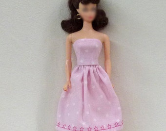 "Handmade 11.5"" Fashion Doll Clothes - pink dress"