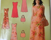 Sewing Pattern Simplicity 2952 Misses' Dress  and Handbag  Bust 32-44 inches UNCUT Complete