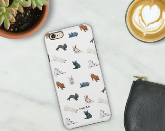 iPhone 6/6s/6+/7 Phone Case - Tough Case - French Bulldog Phone Case - Frenchie Phone Case - French Bulldog Pattern Protective Phone Case