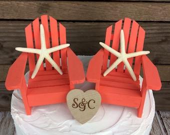 Starfish Cake Topper, Starfish, Beach Wedding, Beach Cake Topper, Cake Topper