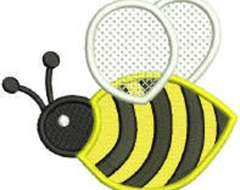 Machine Embroidery Bumble Bee Applique Design pes dst jef sew hus Auto Download