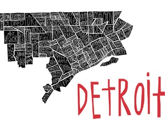 Detroit Neighborhood Print