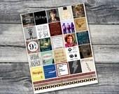 Harry Potter Planner Printable - Horizontal ECLP Harry Potter Stickers - Digital Planner Stickers - fits Erin Condren Horizontal Planner