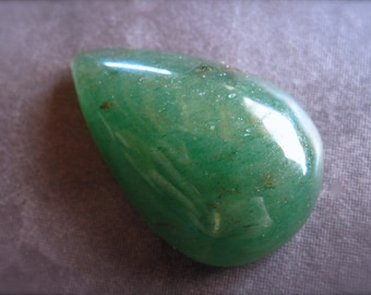 Green Aventurine with Gold Flecks Cabochon - teardrop - 35mm X 22mm