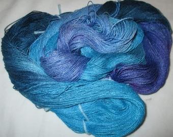 Hand Dyed 100% Bamboo Yarn - OCEAN  - 630 yds