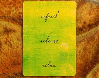 Locker Magnet - Cubicle Magnet- Bright Cheerful Fridge Magnet - Inspirational Magnet - Motivation - Yellow Green Refrigerator Magnet