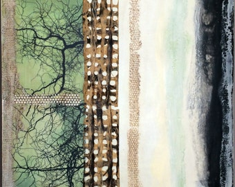 Original encaustic painting- the Other Twig