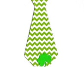 St. Patrick's Day Tie...Fabric Iron On Applique...Three Tie Sizes Available
