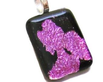 SALE - Disney Princess Necklace Pendant - Fused Glass Pendant - Fused Glass Jewelry - Princess Jewelry - Dichroic