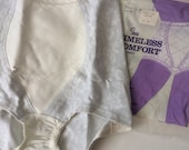 High Waist Panties New Old Stock Vintage Underwear Pin Up Girl Fetish Sears Timeless Comfort Rubber Spanx Girdle Medium