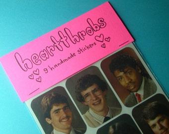 heartthrobs handmade sticker set
