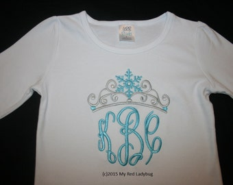 Birthday Crown Shirt Snowflakes Ice Princess Queen