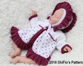 KNITTING PATTERN For Baby Olivia Ruffled Edged Jacket, Hat in  1 Sizes PDF 340 Digital Download