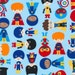 HALF YARD - Anne Kelle, Super Kids, Adventure, Cotton Fabric - SALE