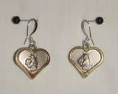 St Anthony Medal Earrings inv1338