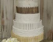 Miniature Fence for Beach Wedding Cake Topper-Nautical Wedding-Cake Accessory