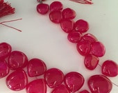 1/2 strand red color smooth hearts