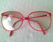 Tura 311 Classic Clear Red Eyeglass Frames, Iconic True 80s Vintage, Made in Japan, Fill with your RX, Great Condition