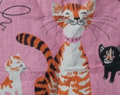 Reserved for Ingrid     Tammis Keefe classic Kitty Cat Linen Towel in Pink